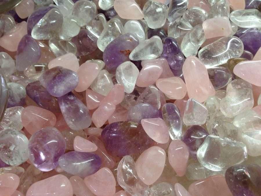 crystal healing rose quartz amethyst clear quartz