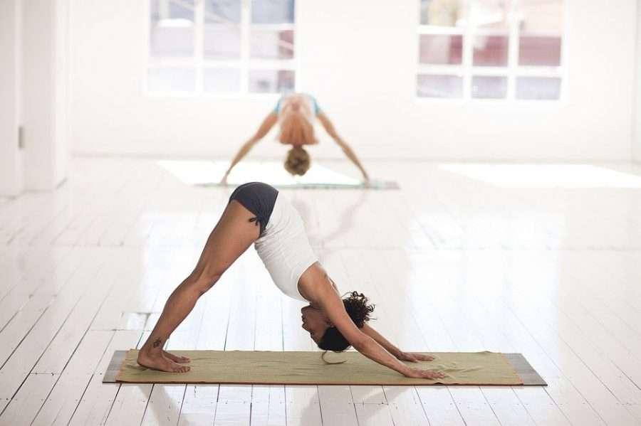 workout doing yoga