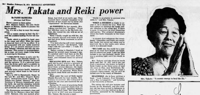 Mrs. Takata and Power of Reiki
