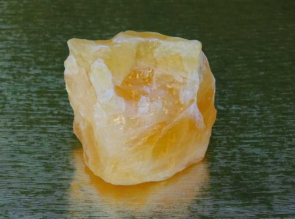 orange calcite crystal
