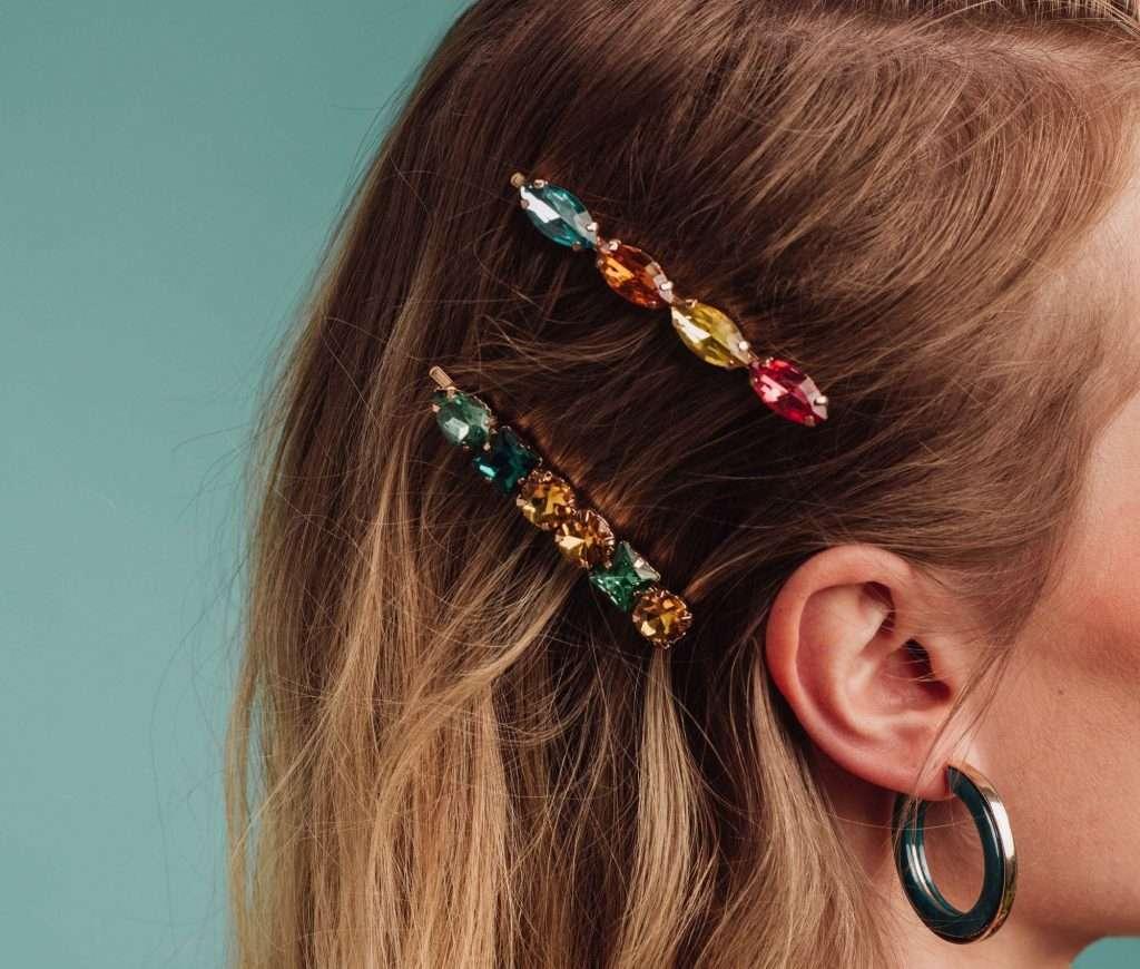 crystal hair accessories