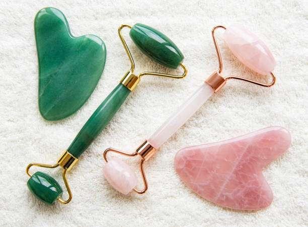 jade roller rose quartz roller